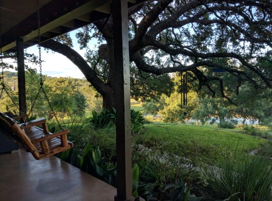 Paniolo Ranch Bed & Breakfast Spa: View from back porch of main house
