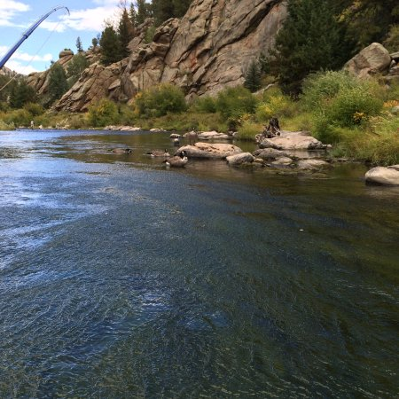 Lake George, CO: the river