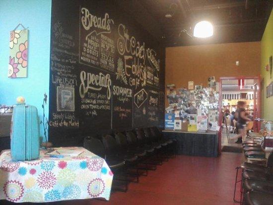 chalk wall near door picture of steady eddy s cafe flint