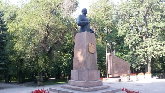 Monument Bust to Ivan Panfilov