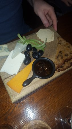 Romaldkirk, UK: cheese board