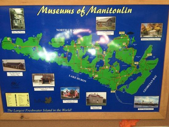 Sheguiandah museum listed on the map