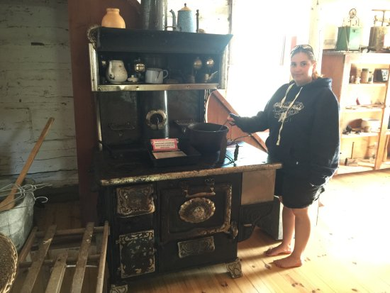 Old homestead stove at the Sheguiandah museum