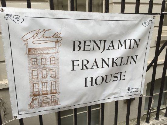 Sign outside the Benjamin Franklin House