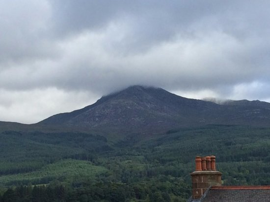 The Glenartney: The view of Goatfell from our bathroom