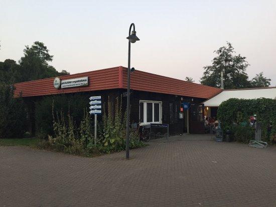 Roebel, Tyskland: Gaststätte mit schöner Terrasse