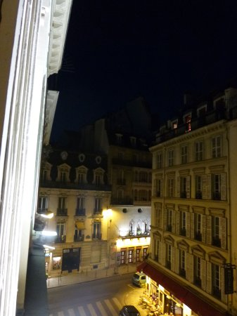 Hotel Queen Mary: View from our window onto Rue Greffulhe, facing Rue des Mathurins