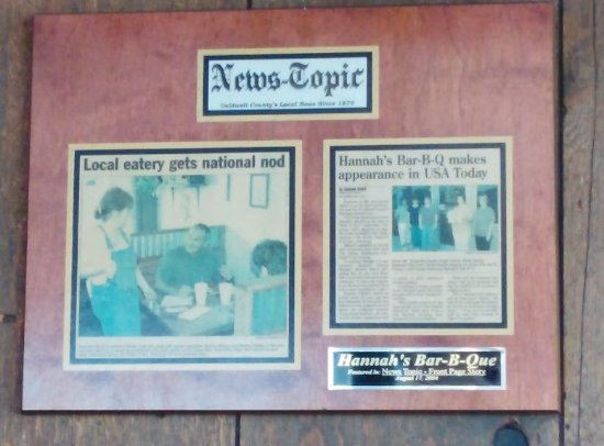 Lenoir, Carolina del Nord: Local News article for people to read about Hannahs