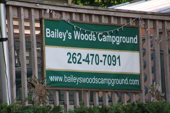 Baileys Harbor, Wisconsin: The sign