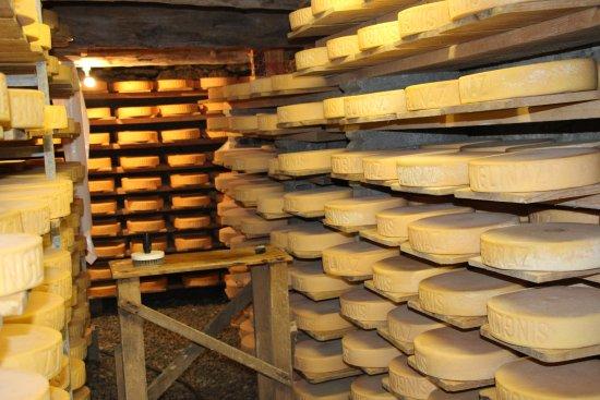 Zinal, Suisse : La fromagerie de l'alpage de Singlinaz