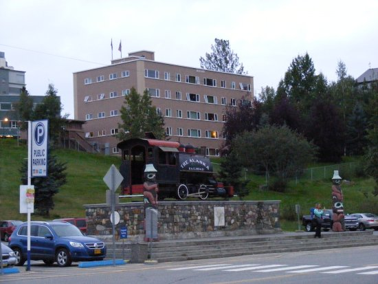The Anchorage Grand Hotel As Seen From The Train Station Below It Picture Of Anchorage Grand Hotel Tripadvisor