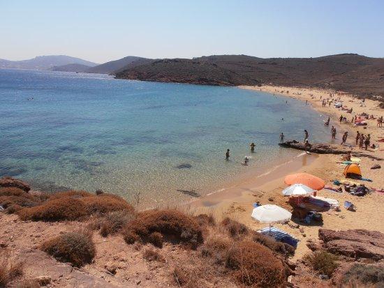 Agios Sostis, Hellas: La spiaggia vista dall'alto