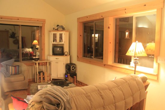 Alsea, OR: the living area in the cottage