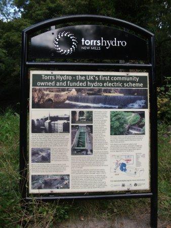 New Mills, UK: Info board