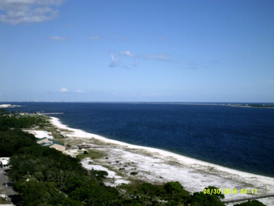Pensacola Lighthouse and Museum: View of the beach from the top of the lighthouse