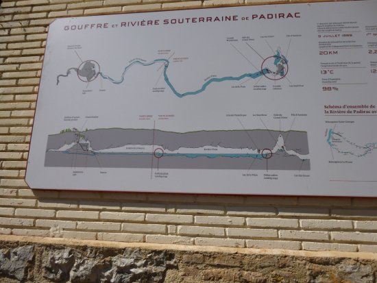 Map showing the extent of the tunnels. - Picture of Gouffre de ... on