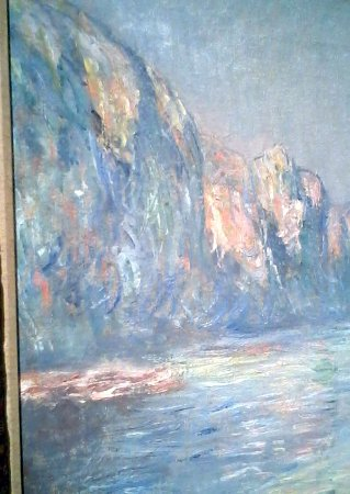 Birmingham Museum of Art: Closeup of a section of a Monet (I was studying the brush-stroke techniques)