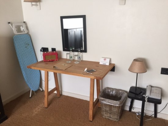 Hurley, UK: our daughters bedroom - ironing board?