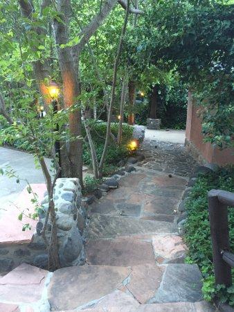 Briar Patch Inn: walk to ponderosa cabin