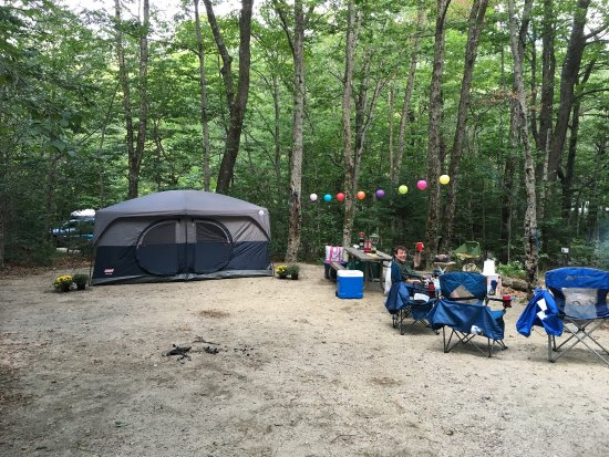 Lafayette Campground : Site 43-large enough for two good sized tents-we only placed one large tent and there was still