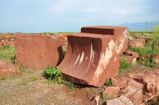 Taraz, Kazakistan: Камень (вид 2) из угловой башни археологического комплекс Акыртас