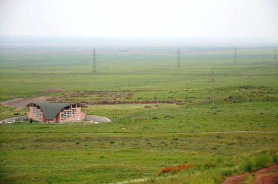 Taraz, Kazakistan: Панорама археологического комплекса Акыртас