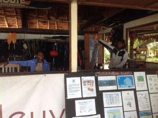 Leleuvia Island, Fiji: Equipment for sea use