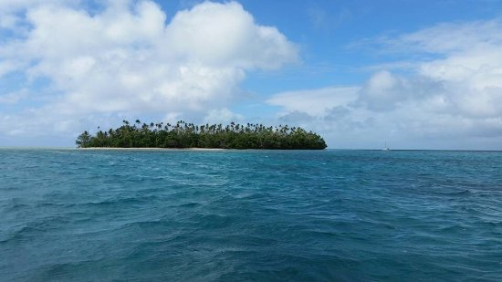 Leleuvia Island, Fiji: Leleuvia as seen from the boat