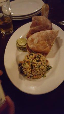 Luka's Taproom & Lounge: fried chicken sandwich
