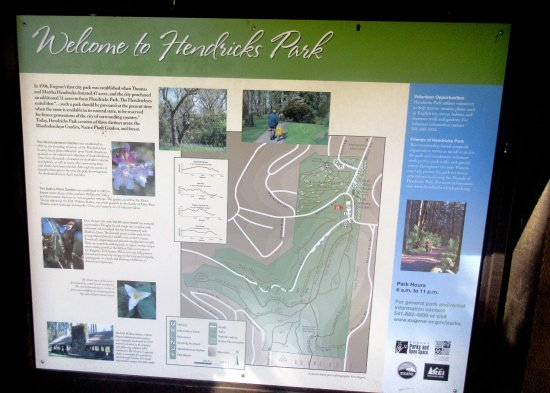 Hendricks Park Information Board Eugene Oregon Picture of