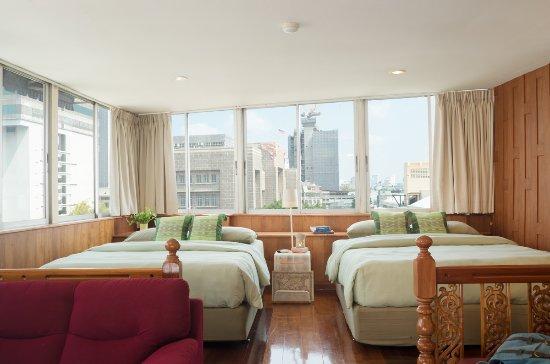 นิว โร้ด เกสท์เฮ้าส์: Comfort Family room with views over Bangkok