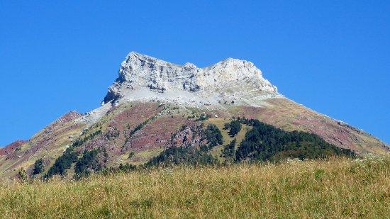 Castillo D'Acher rising above the Hecho Valley