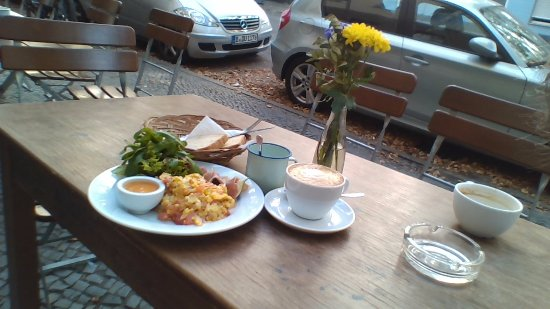 FELLFISCH, Cafe & Jewellery: breakfast today, one of the salads would have made a better picture perhaps