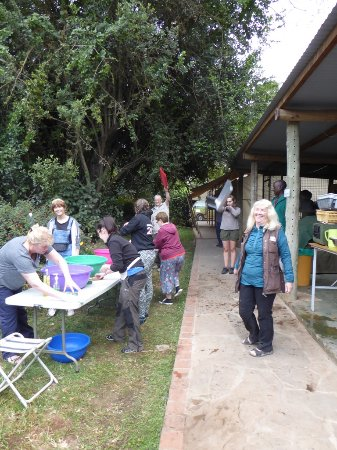 Wildebeest Eco Camp: Cooking area for large groups.