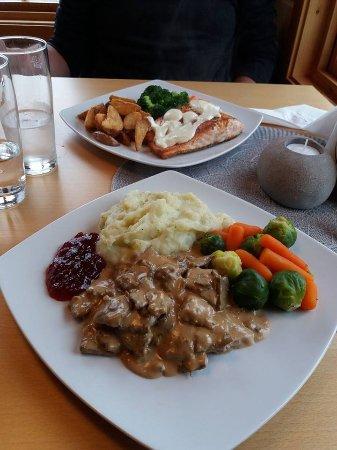 Skarsvag, Norwegen: Les deux plats principaux : renne et saumon