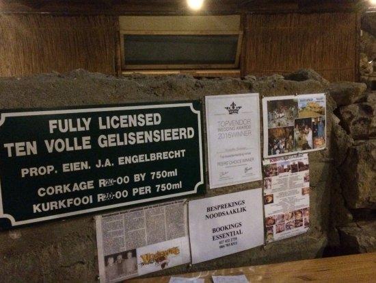 Bosduifklip: Licensed