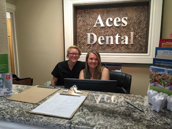 Front office staff at Aces Dental very near to Riordan Mansion State Historic Park Flagstaff AZ