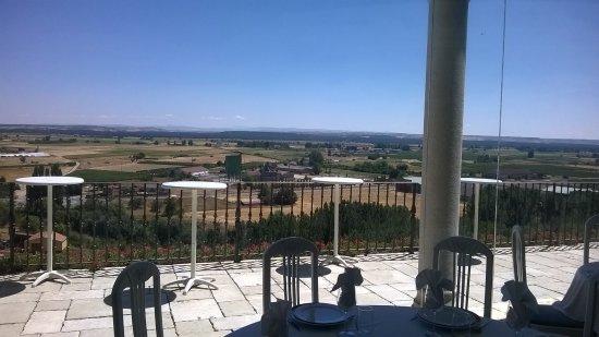 Roa, Hiszpania: Las vistas desde el comedor