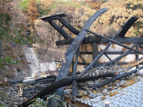 Higashiura-cho, Japan: 焼失した座禅堂