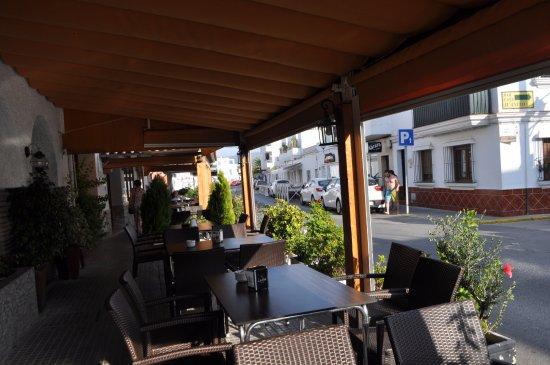 Hotel Almadrabeta : terraza del restaurante
