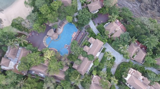 Crown Lanta Resort & Spa: view from above