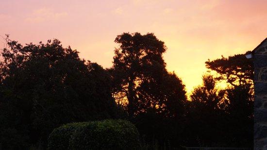 St. Pierre du Bois, UK: Sunrise from the stable door