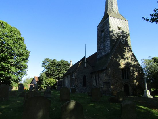 Cowden, UK : St Mary's from the road