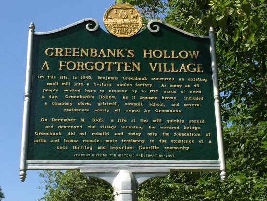 Danville, VT: Welcome sign at Greenbank's Hollow
