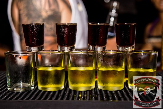 Jagerbombs Picture Of One Eyed Jacks Bar Moalboal Tripadvisor