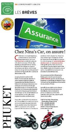 Chalong, Tailandia: Chez Nina's Cars on assure!