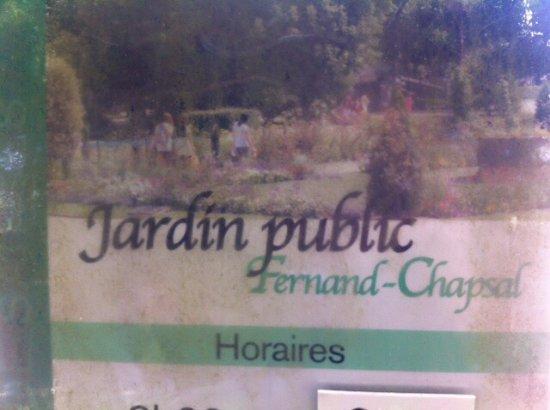 Saintes, Francia: Jardin Public
