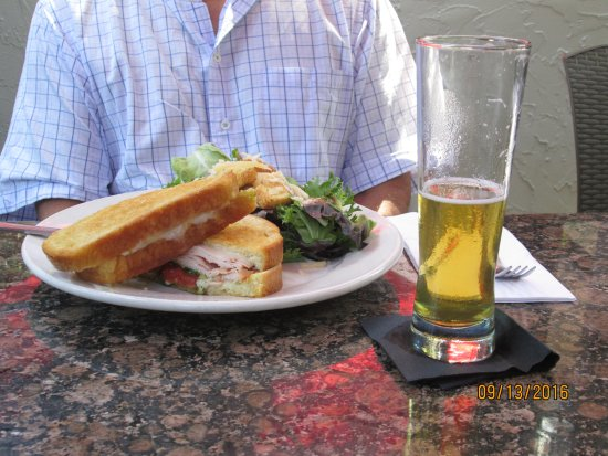 New Buffalo, MI: smoked turkey sandwich this is wonderful