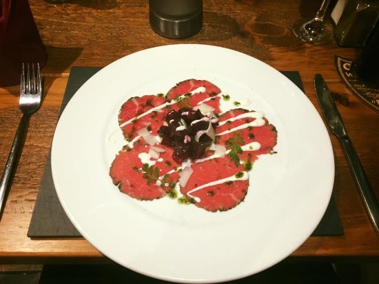 Rhyd Ddu, UK: beef Carpaccio