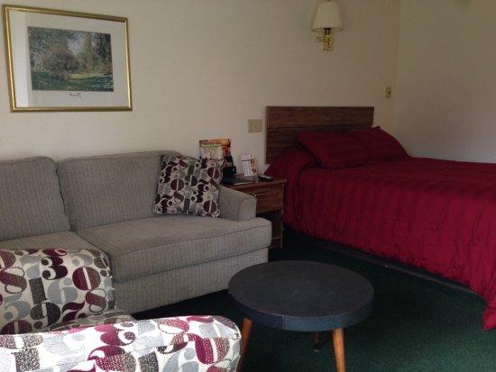 The Golden Door Motel: view of one queen/studio